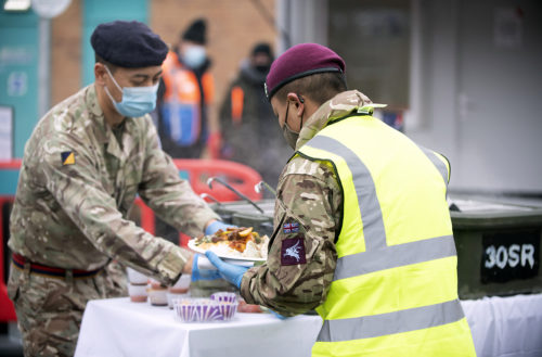 Nepalese Curry Delivered to Gurkhas Covid Testing Lorry Drivers