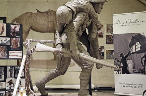 Gurkha statue creation project with Amy Goodman