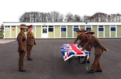 Queen's Gurkha Signals Recruit Intake 20 Attestation parade in Altcar