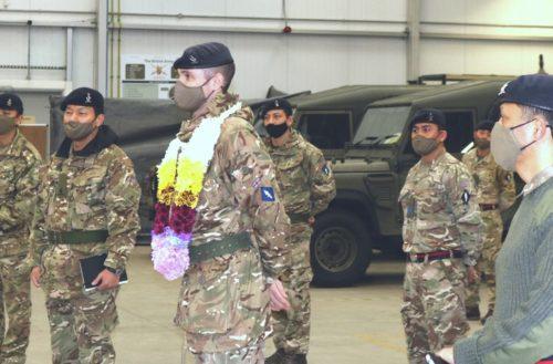 Commander Queen's Gurkha Signals Visits 250 Gurkha Signal Squadron