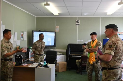 The Band of the Brigade of Gurkhas welcome new Commanding Officer
