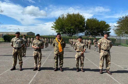 Visit of Colonel Commandant Brigade of Gurkhas to the Band of the Brigade of Gurkhas