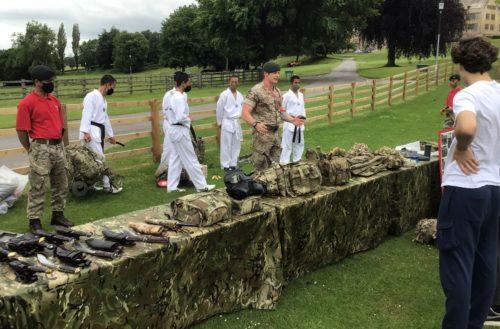 Gurkha Company Close Quarter Combat visit Ampleforth College