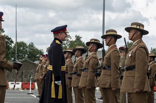 Gurkha ARRC Support Battalion Redesignation parade