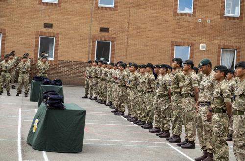 Gurkha Company Catterick - Capbadging Aug 21