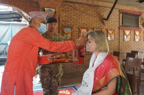 Her Majesty's Ambassador to Nepal Her Excellency Nicola Pollitt paid a visit to Headquarters British Gurkhas Nepal