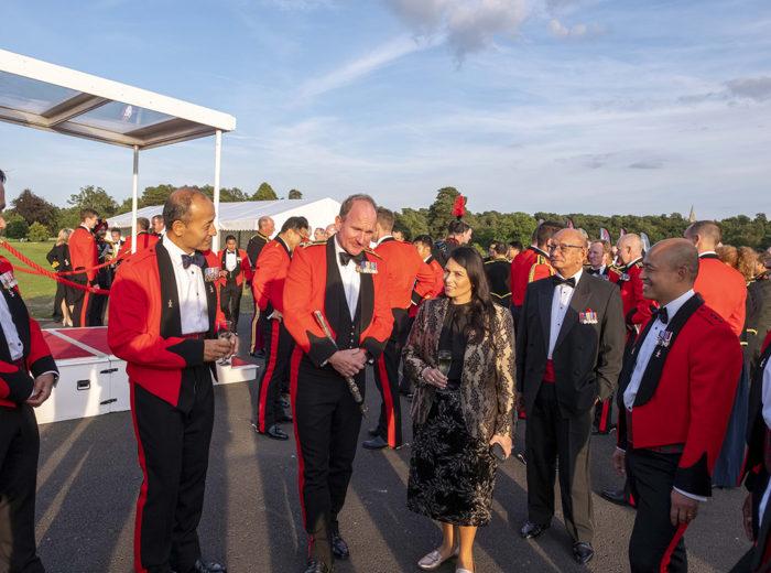 UK Home Secretary with the Brigade of Gurkhas