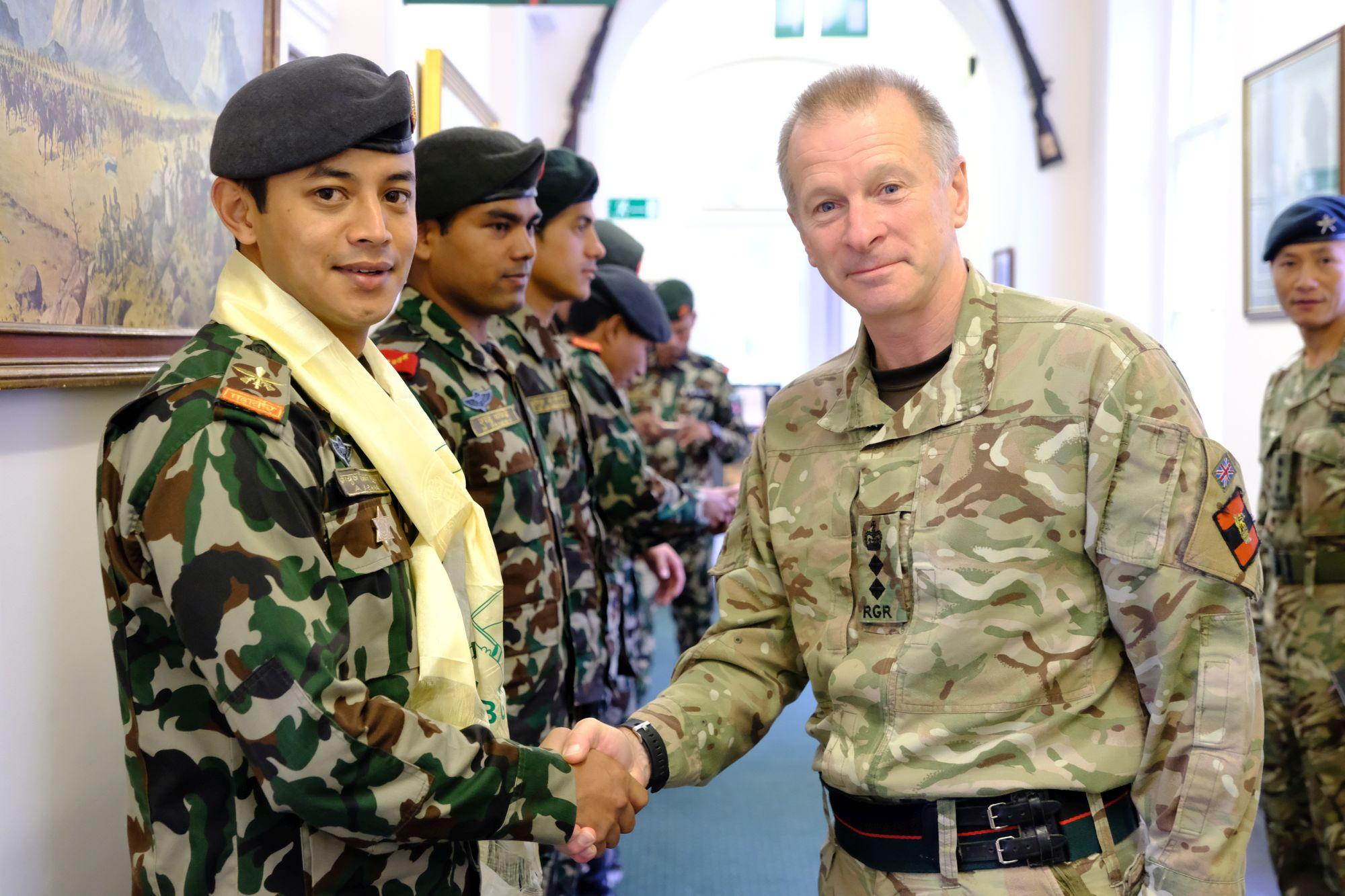 Nepal Army Cambrian Patrol Team Visit HQBG 002